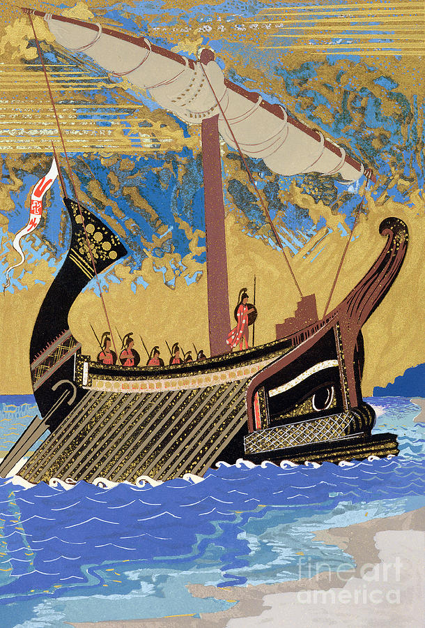 The Ship Of Odysseus Painting