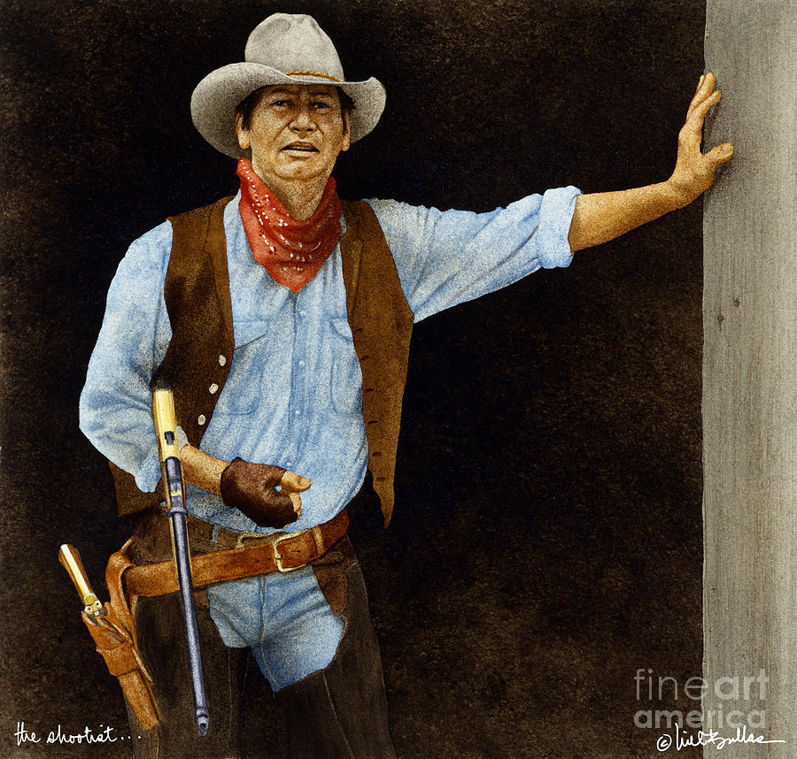 The Shootist... Painting  - The Shootist... Fine Art Print