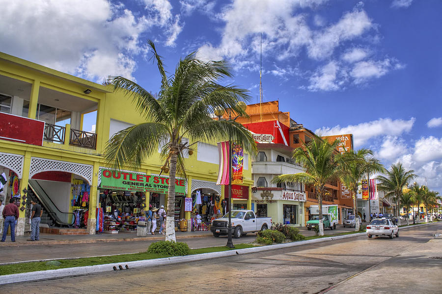 The Shops Of Cozumel Photograph  - The Shops Of Cozumel Fine Art Print