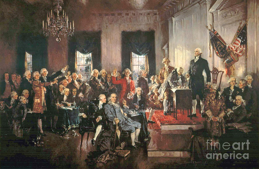 The Signing Of The Constitution Of The United States In 1787 Painting