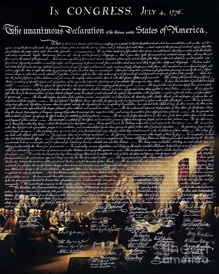 The Signing Of The United States Declaration Of Independence V2 Photograph