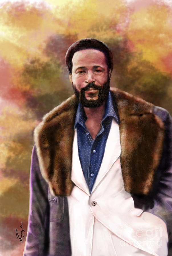 The Silky Silky Soul Singer - Marvin Gaye  Painting  - The Silky Silky Soul Singer - Marvin Gaye  Fine Art Print