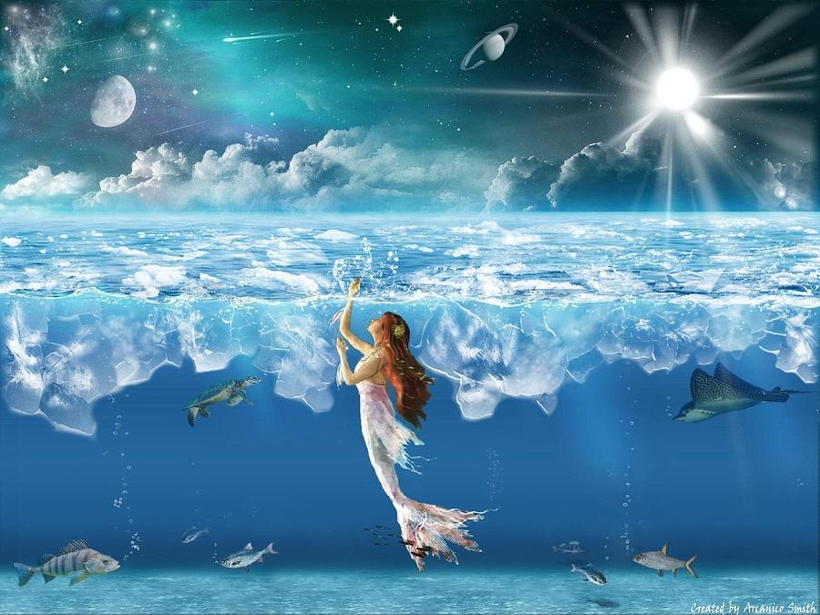 The Siren Of The Arctic Ocean Digital Art