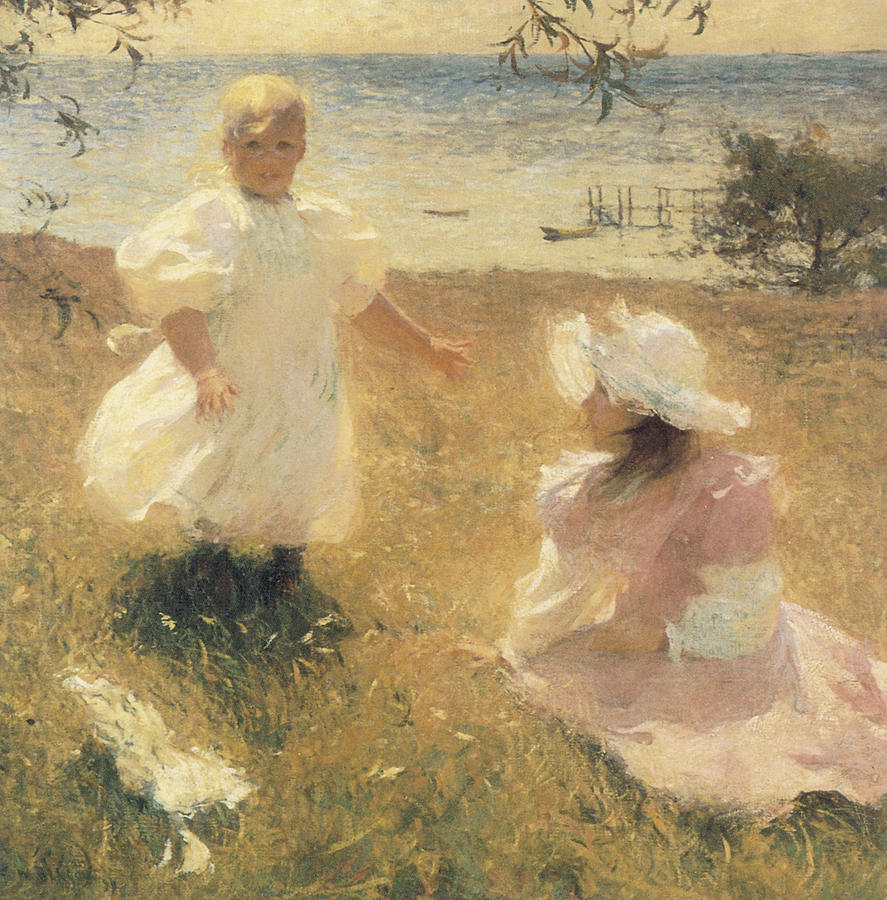 Frank Benson Painting - The Sisters by Frank Benson
