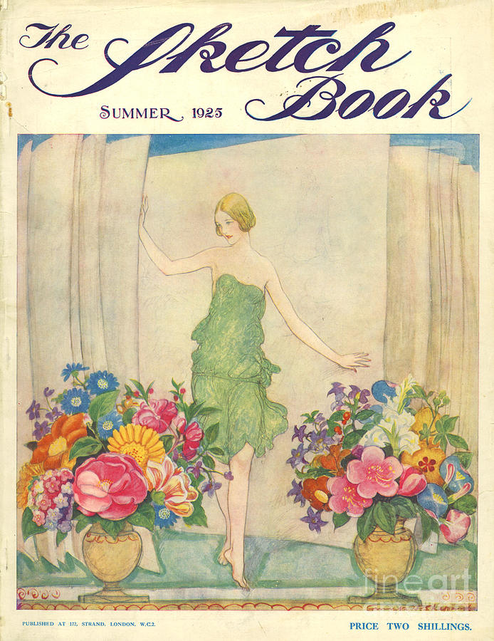 The Sketch Book 1925 1920s Uk Womens Drawing