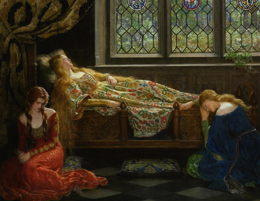 The Sleeping Beauty Digital Art  - The Sleeping Beauty Fine Art Print