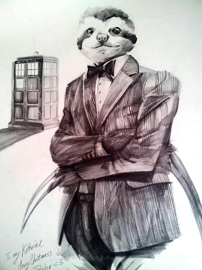 The Sloth Doctor Drawing