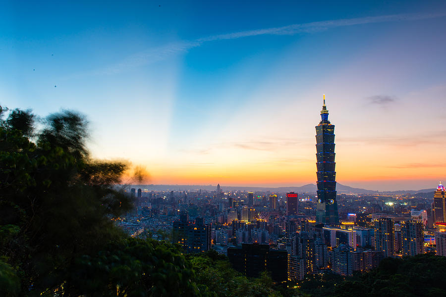 The Sky Of Taipei 101 Photograph