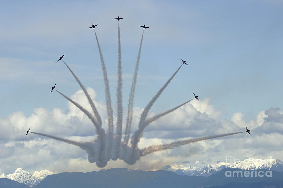 The Snowbirds In High Gear Photograph  - The Snowbirds In High Gear Fine Art Print