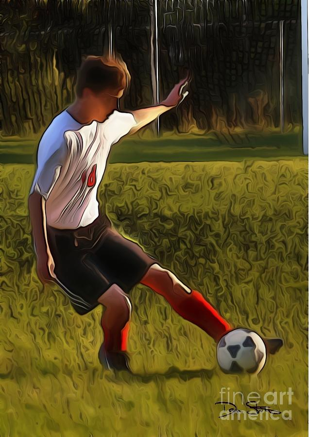 The Soccer Player Photograph  - The Soccer Player Fine Art Print