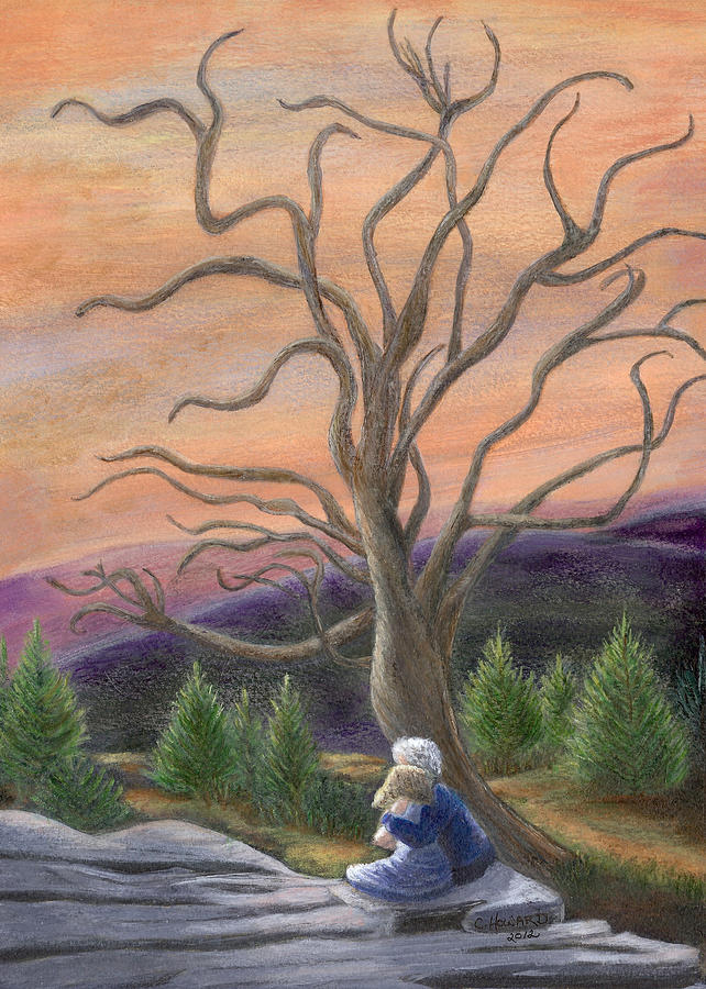 The Solace Tree Painting  - The Solace Tree Fine Art Print