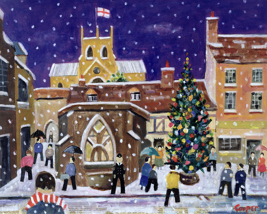 Street Scene Painting - The Spirit Of Christmas by William Cooper