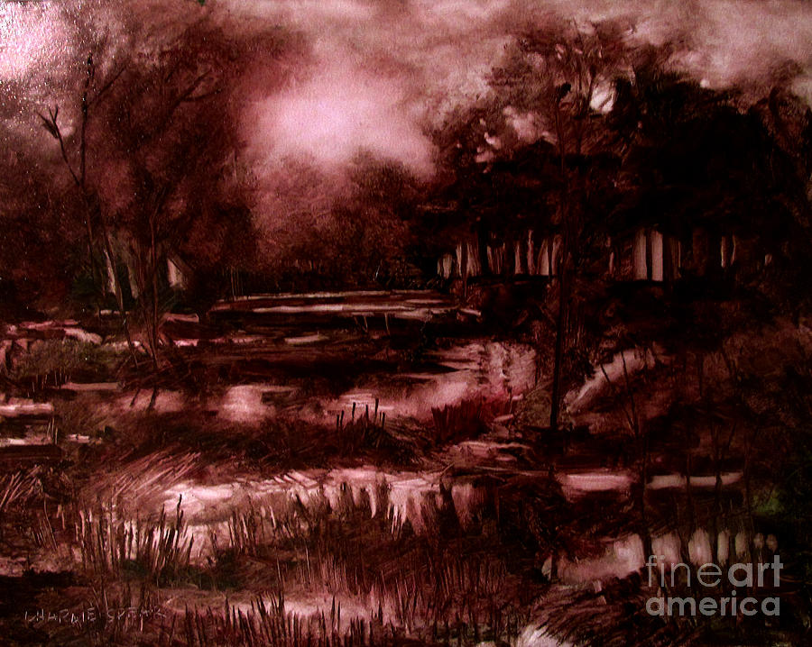 Landscape Painting - The Spring Eel Flooding Or Red And Green Dont Make Brown by Charlie Spear