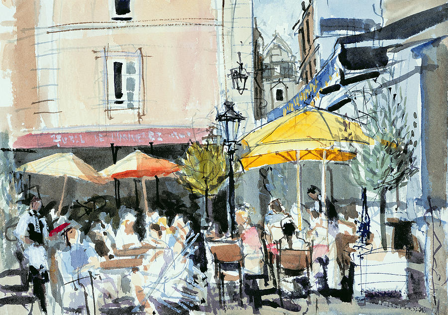 The Square At St. Malo Painting  - The Square At St. Malo Fine Art Print
