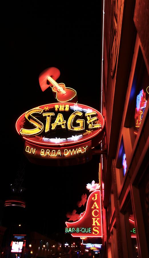 The Stage On Broadway In Nashville Photograph
