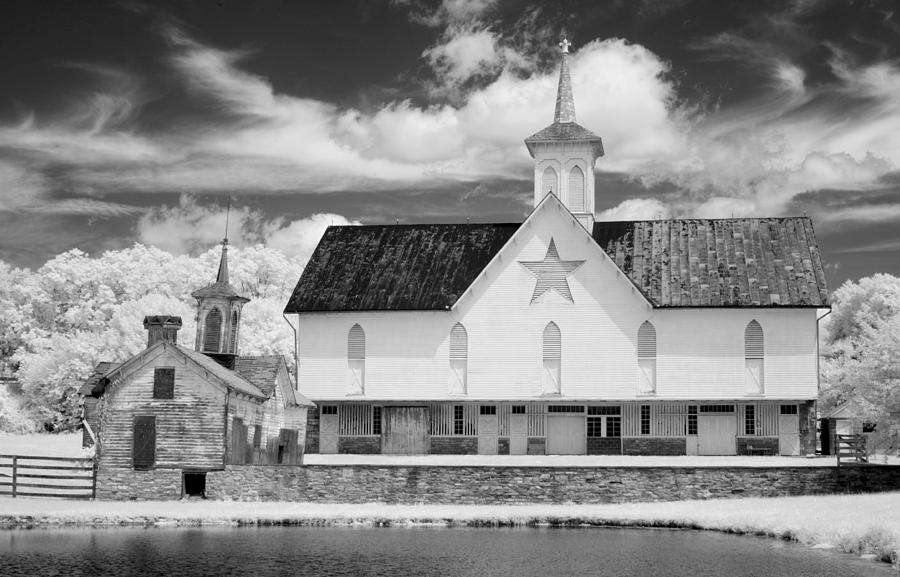 The Star Barn - Infrared Photograph  - The Star Barn - Infrared Fine Art Print