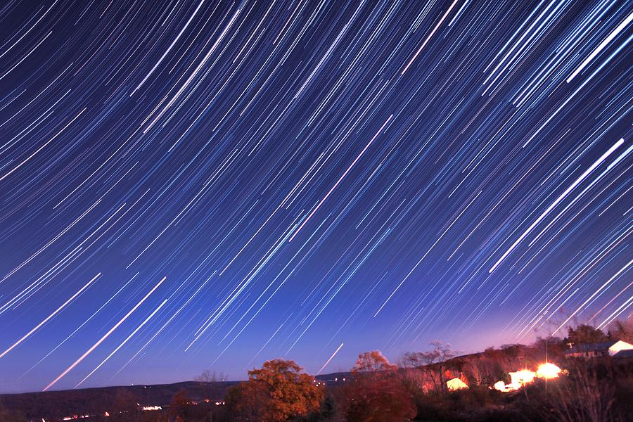 The Star Trail In Ithaca Photograph