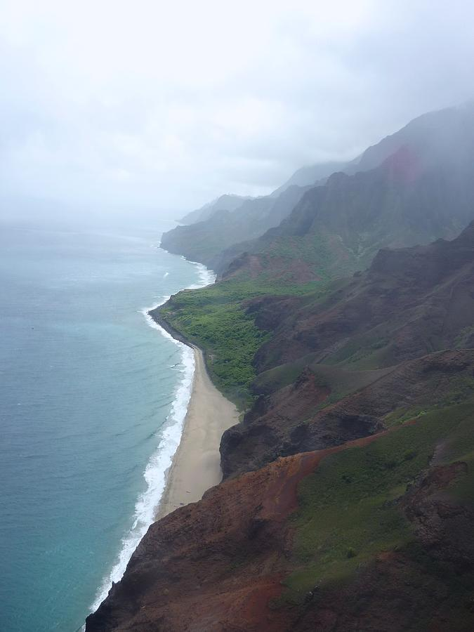 The Starting Of The Napali Coast  Photograph  - The Starting Of The Napali Coast  Fine Art Print
