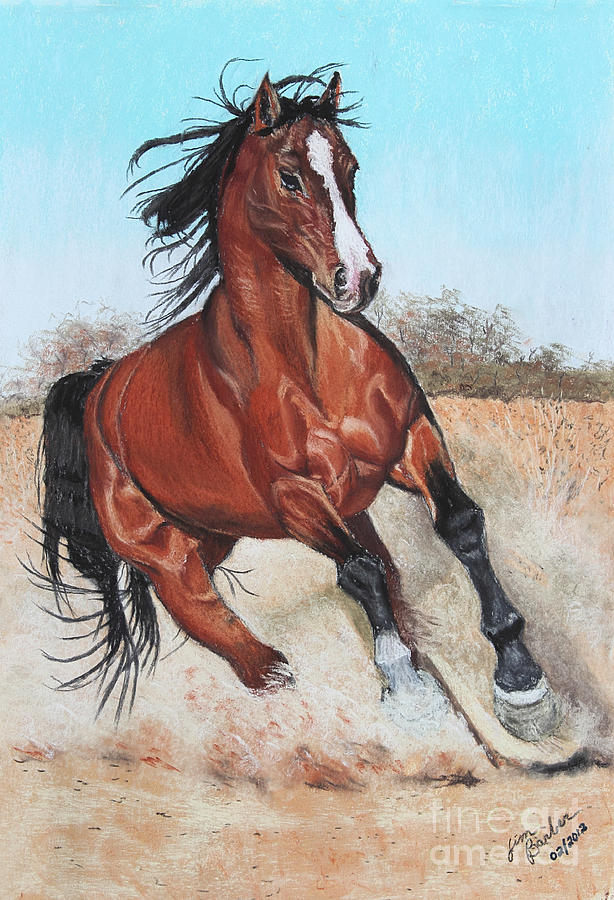 The Steed Painting  - The Steed Fine Art Print