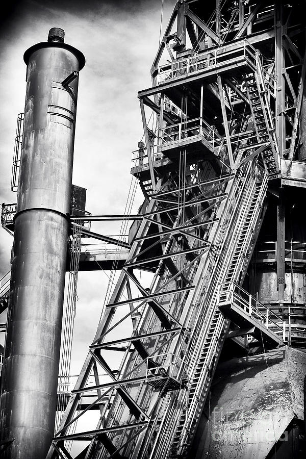 The Steel Mill Photograph - The Steel Mill by John Rizzuto