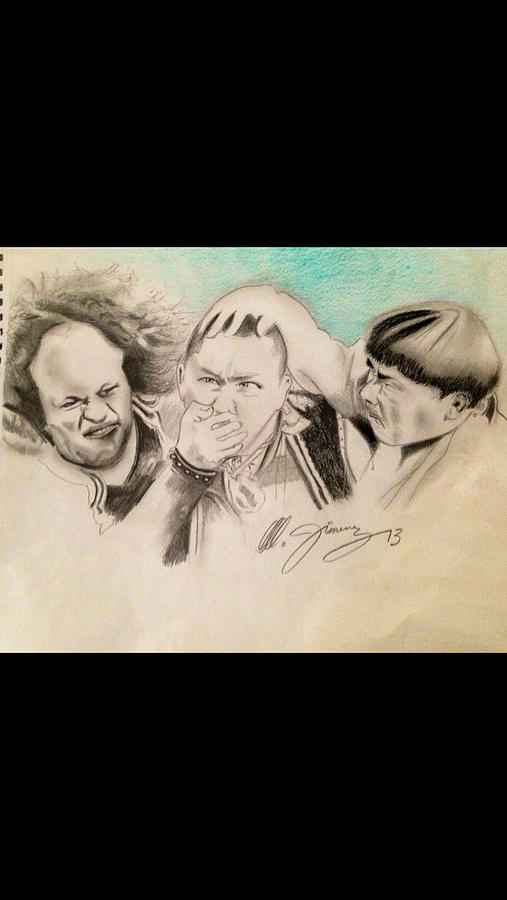 The Stooge Legends Drawing  - The Stooge Legends Fine Art Print