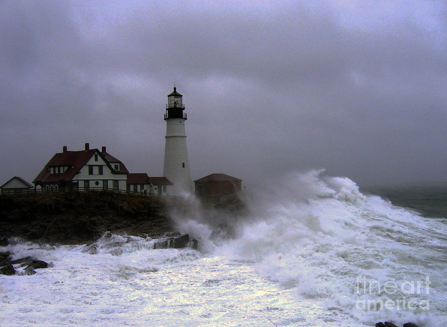 Lighthouse Photograph - The Storm by Lloyd Alexander
