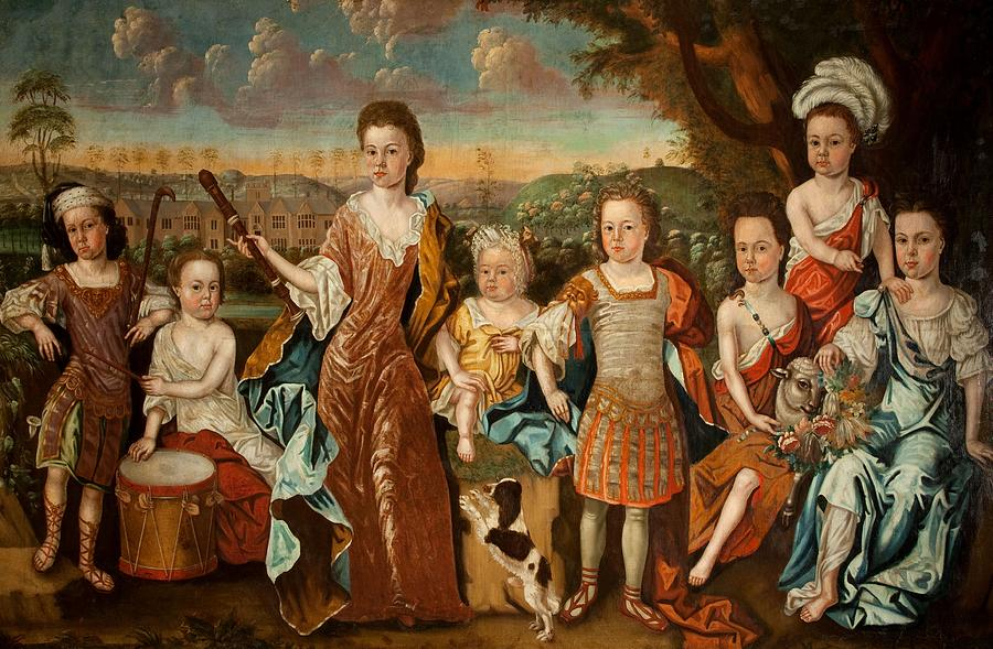 The Strachey Family, C.1710 Painting