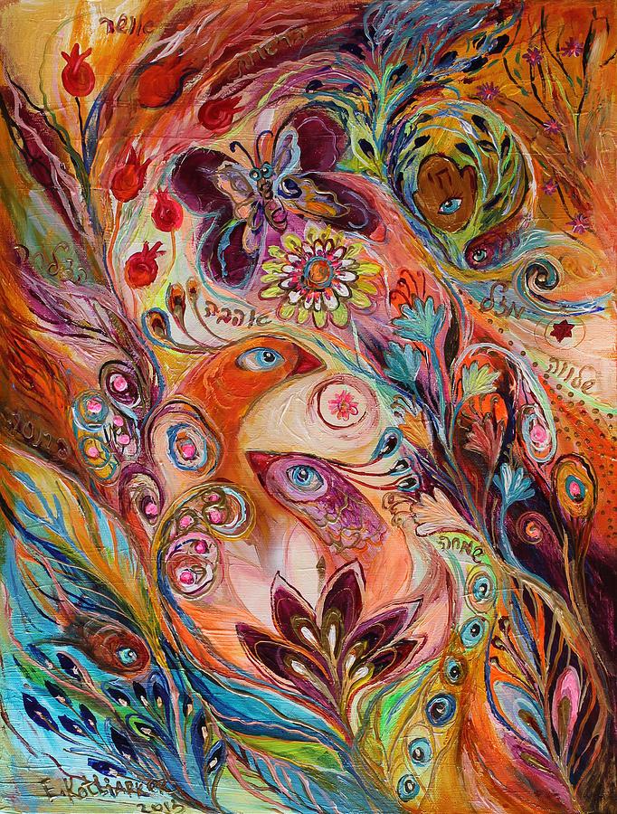 Judaica Painting - The Stream Of Life Part I by Elena Kotliarker