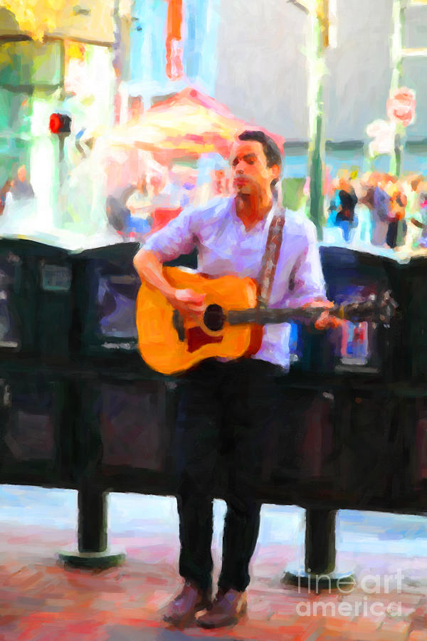 The Street Performer On Market Street - 5d20725 Photograph
