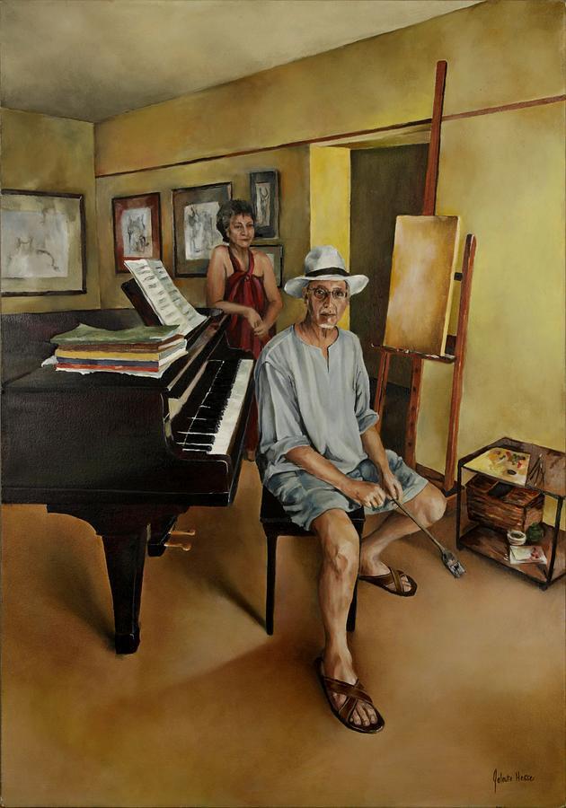 Studio Painting - The Studio by Jolante Hesse