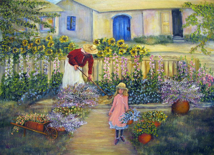 Garden Painting - The Summer Garden by Loretta Luglio