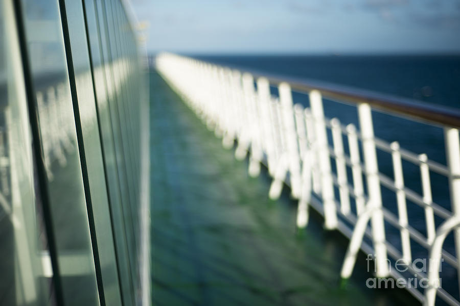 Abstract Photograph - The Sun Deck by Anne Gilbert