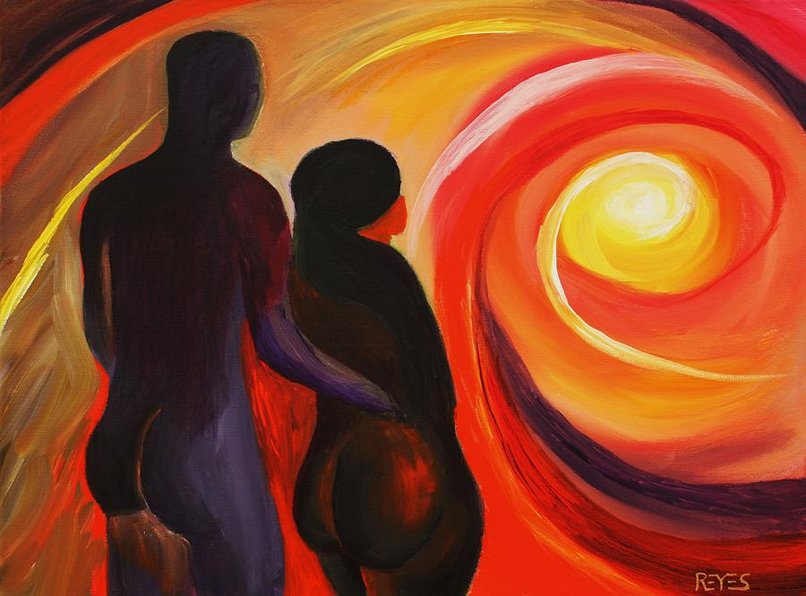 Beautiful Abstract Painting Painting - The Sunset Of Our Dreams by Angel Reyes
