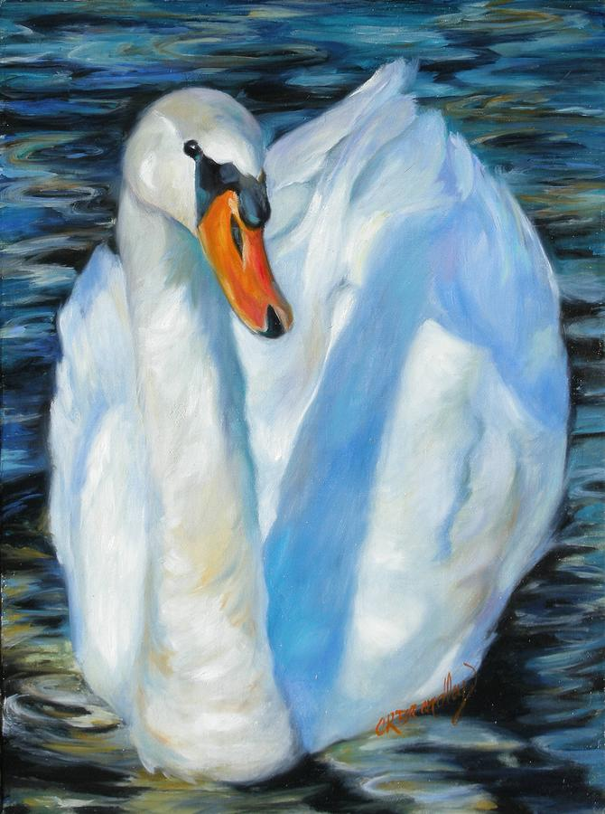 The Swan Painting  - The Swan Fine Art Print