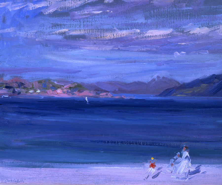Cadell Painting - The Tale Of Mull From Iona by Francis Campbell Boileau Cadell