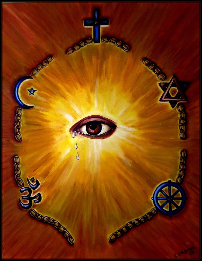 The Tears Of God Painting  - The Tears Of God Fine Art Print