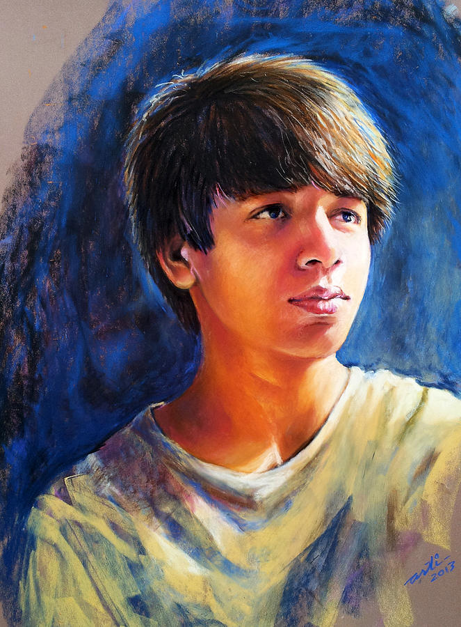 Teenager Painting - The Teenager by Arti Chauhan