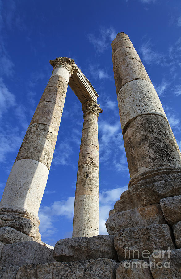 The Temple Of Hercules In The Citadel Amman Jordan Photograph