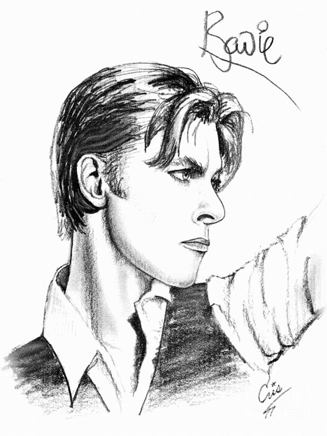 David Bowie Drawing - The Thin White Duke by Cristophers Dream Artistry