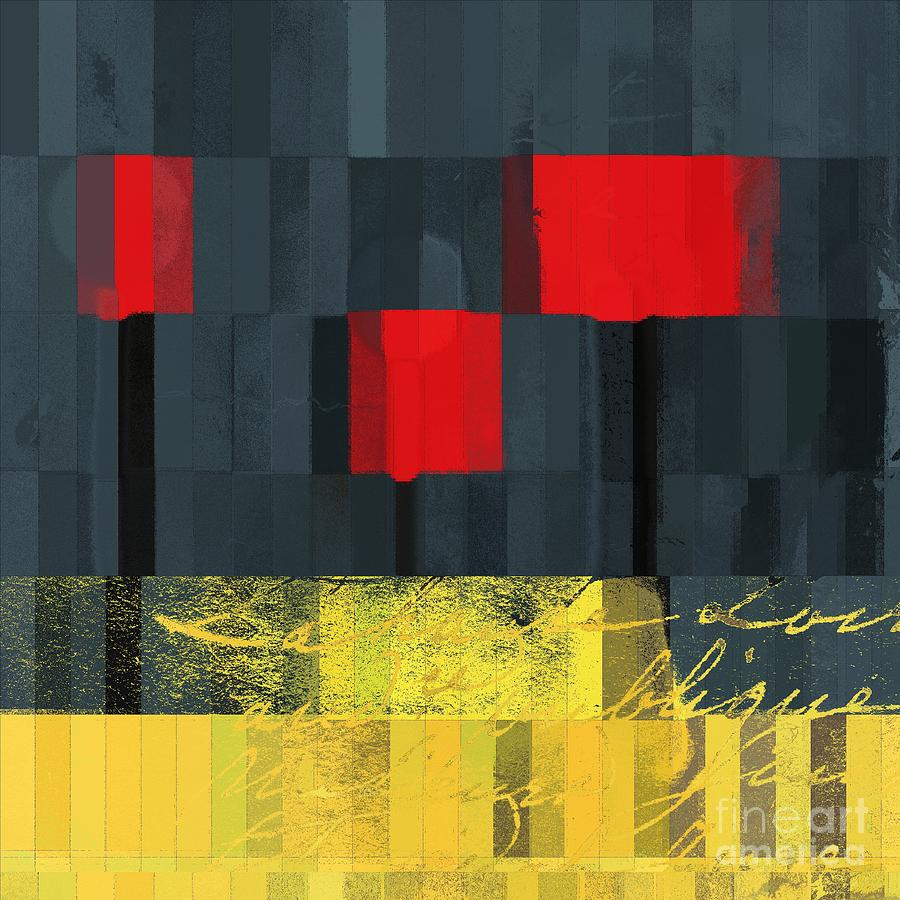 Ed Trees Digital Art - The Three Trees - J021580118  by Variance Collections