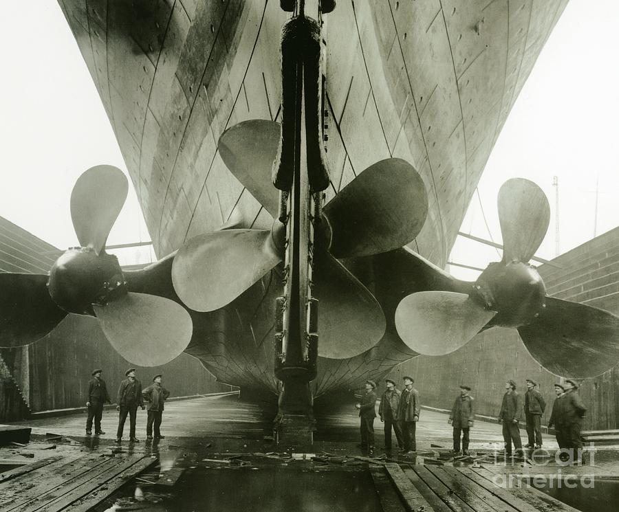 The Titanics Propellers In The Thompson Graving Dock Of Harland And Wolff Photograph