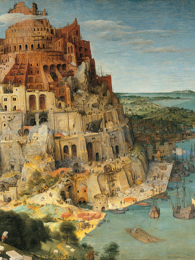 The Tower Of Babel, By Pieter Bruegel Painting