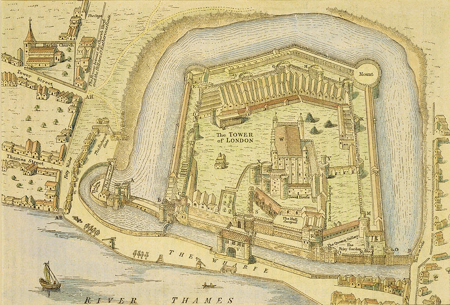 The Tower Of London, From A Survey Made Drawing