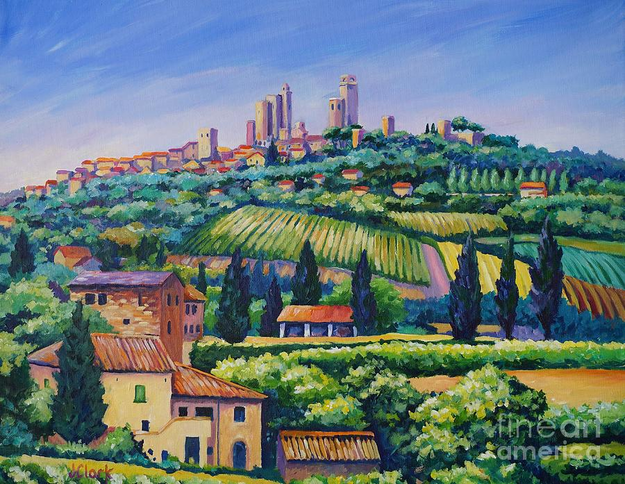 The Towers Of San Gimignano Painting