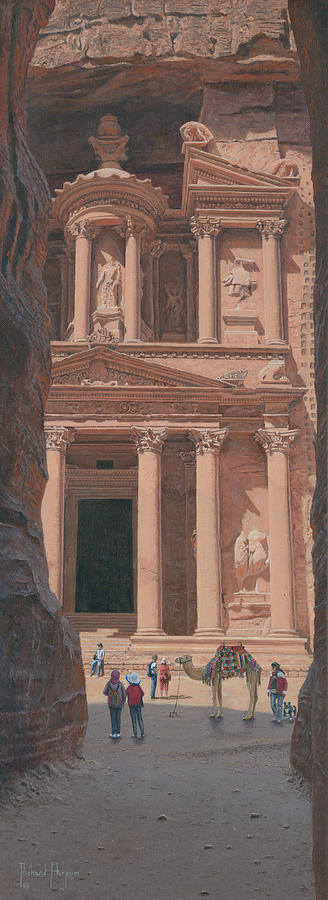 The Treasury Petra Jordan Painting