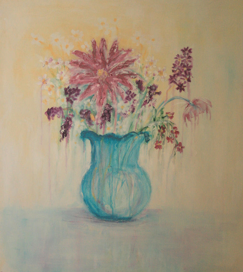 The  Turquoise Vase Painting