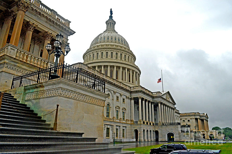 The Dome Photograph - The United States Capitol by Jim Fitzpatrick