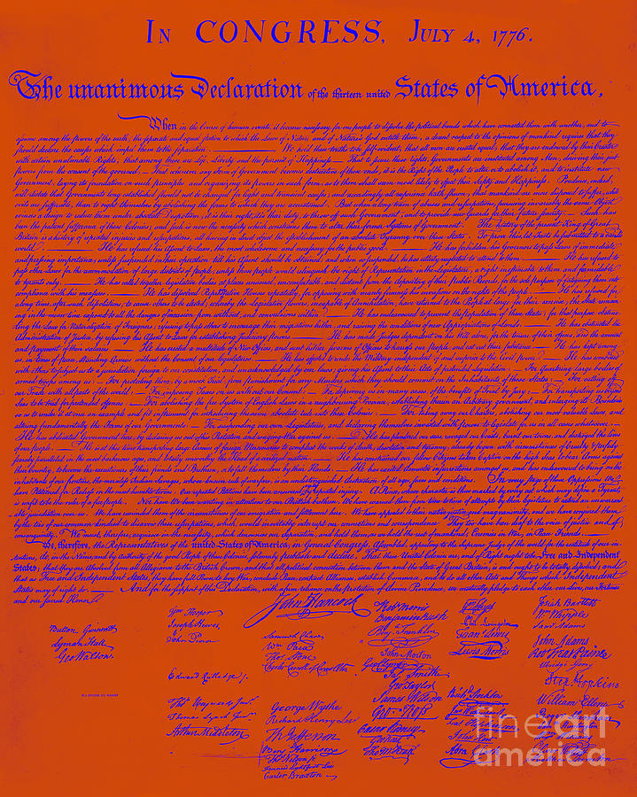 The United States Declaration Of Independence 20130215m108 Photograph