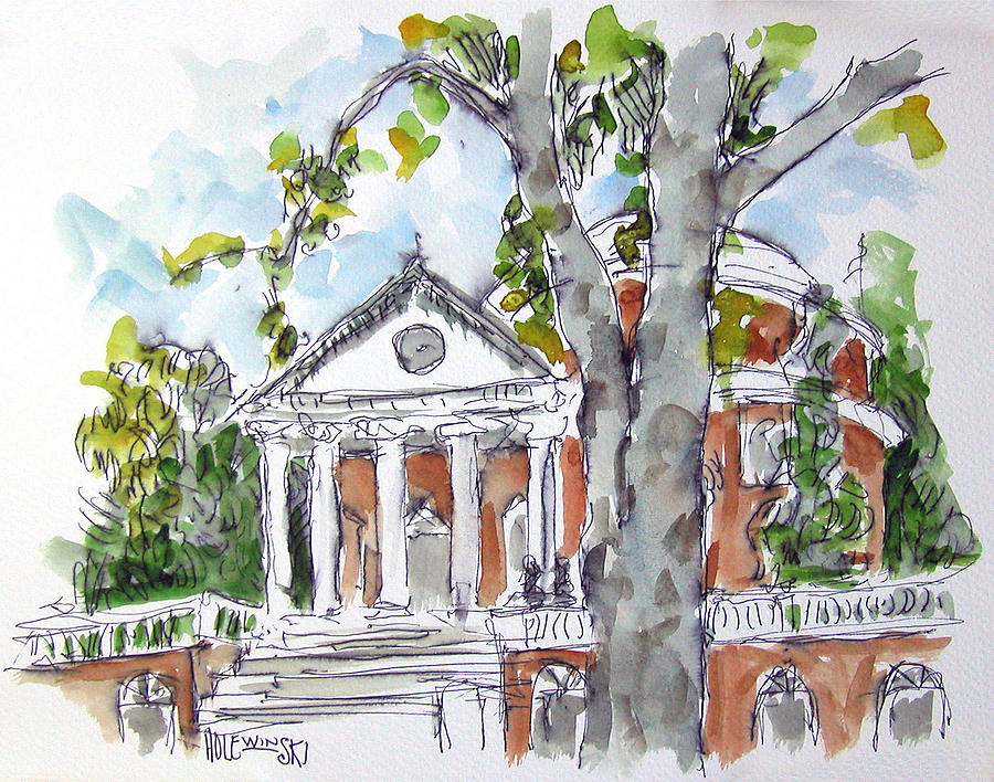 The University Of Virginia Rotunda Painting