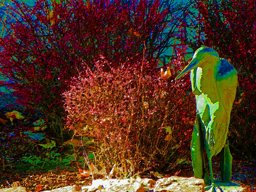 The Unreal Heron Photograph  - The Unreal Heron Fine Art Print